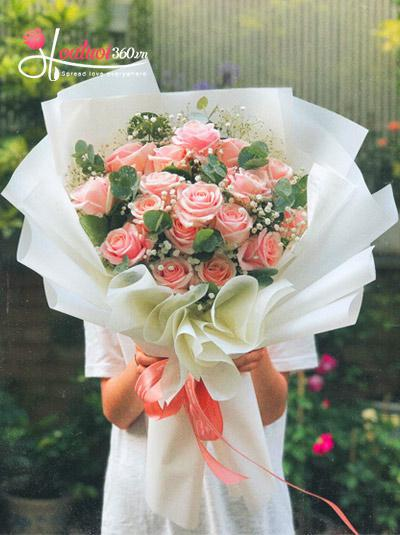 Bó hoa hồng dâu - Làm vợ anh nhé