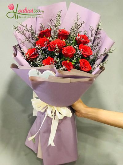 Bó hoa hồng đỏ - Silent love